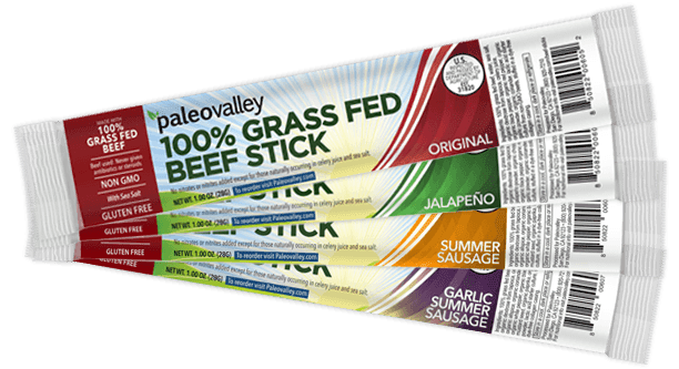 100% Grass Fed Beef Sticks