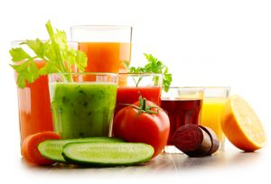 Healthy vegetables and smoothie